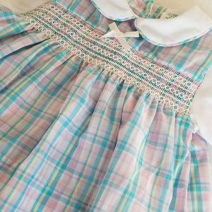 Vintage Smocked Dress EUC